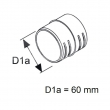 1320469 - Łącznik układu rozprowadzania powietrza 60mm WEBASTO