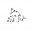 Trójnik - Regulowany trójnik rozdziału powietrza o średnicy 90mm WEBASTO
