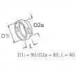 1320186 - Łącznik układu rozprowadzania powietrza 90-80mm WEBASTO